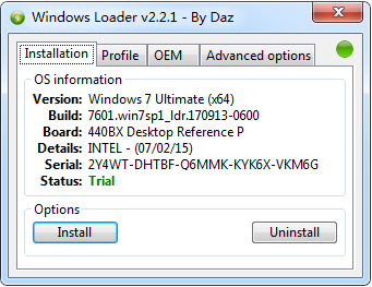 【补丁破解】WIN7激活工具Windows Loader2.2.2